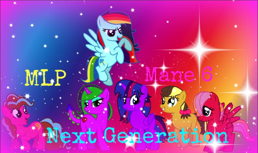 mlp next generation mane 6 by SpeedPaintJayvee12