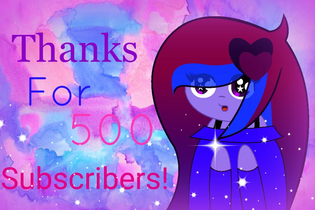 thanks for 500 subs 5 by SpeedPaintJayvee12