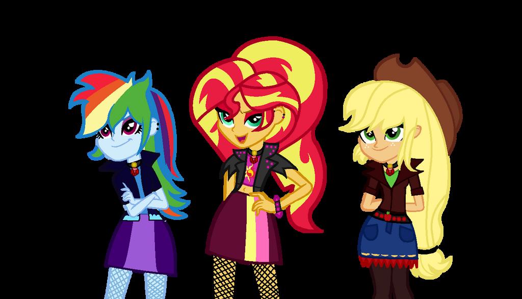 MLP The Dazzlings We're Here To Sing! by SpeedPaintJayvee12
