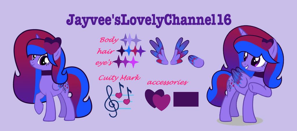 MLP Jayvee'sLovelyChannel16 Oc Gudie by SpeedPaintJayvee12