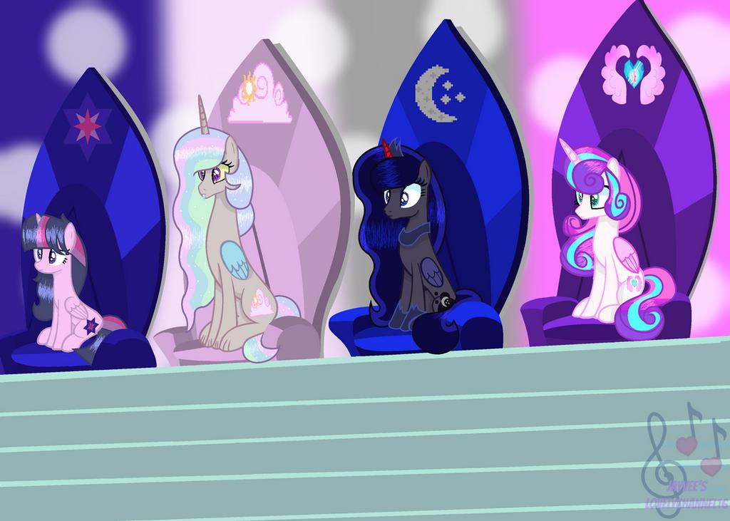 MLP (Next Gen) Royal Princesses (WBG) by SpeedPaintJayvee12