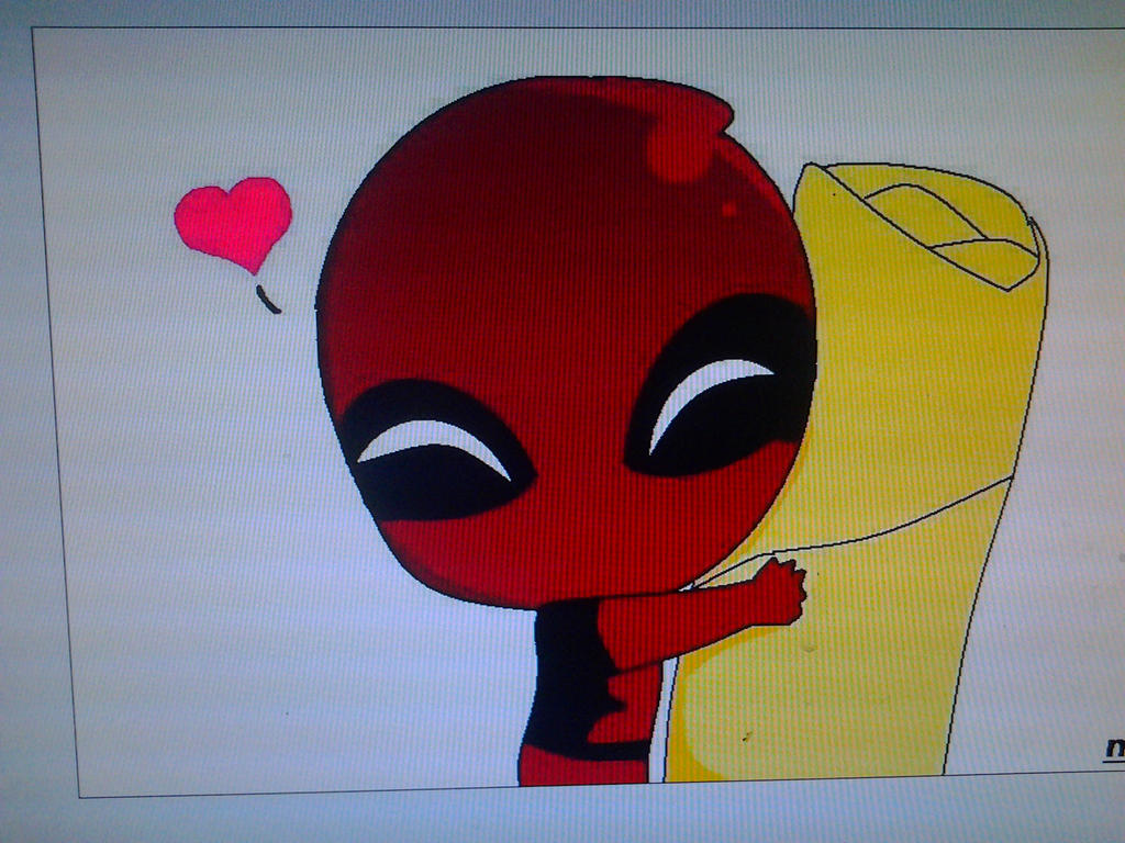 chibi Deadpool by Mell...