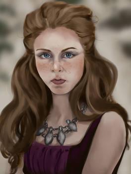 Portrait Study - Frostblommor 2804