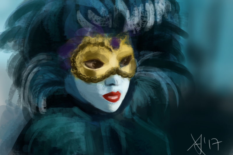 Venetian Mask Speedpaint by Tinnu