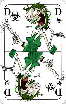 Custom Playing Card No.1: The crazy lady