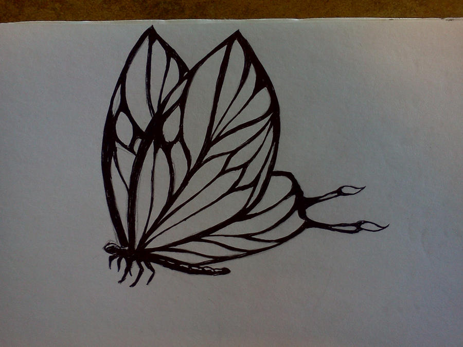 linework butterfly tattoo concept by Samaelt666