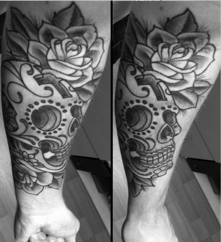 sugar skull tattoo by SONNYJ on DeviantArt
