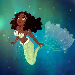Tiana and her glowing bubbles