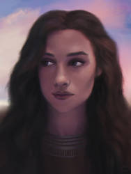 Portrait Purple