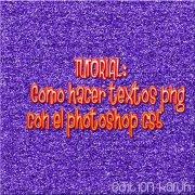 Como hacer un texto png en el photoshop by Karuhchitta