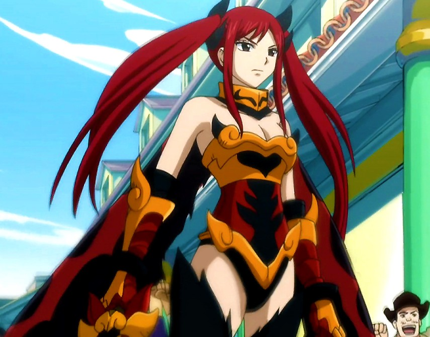erza scarlet suits up for death battle by redhavic on