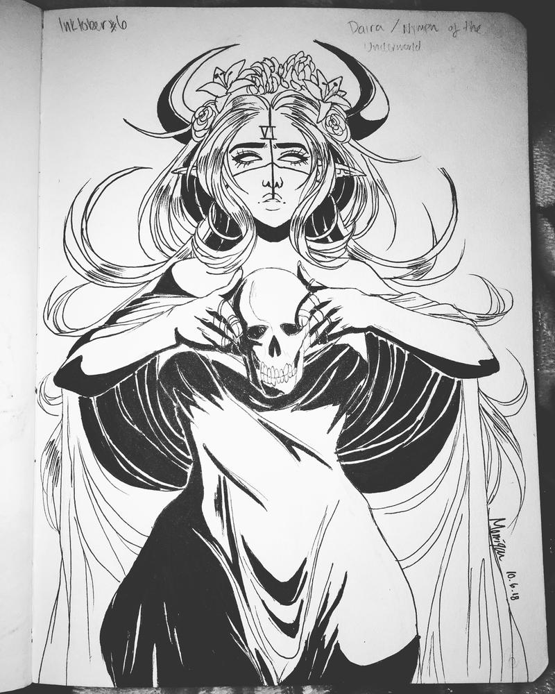 Day 6: Daira / Nymph of the Underworld by LunaLuzz