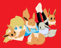 Kimmy and some eevees