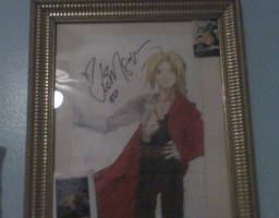 Drawing signed by Vic