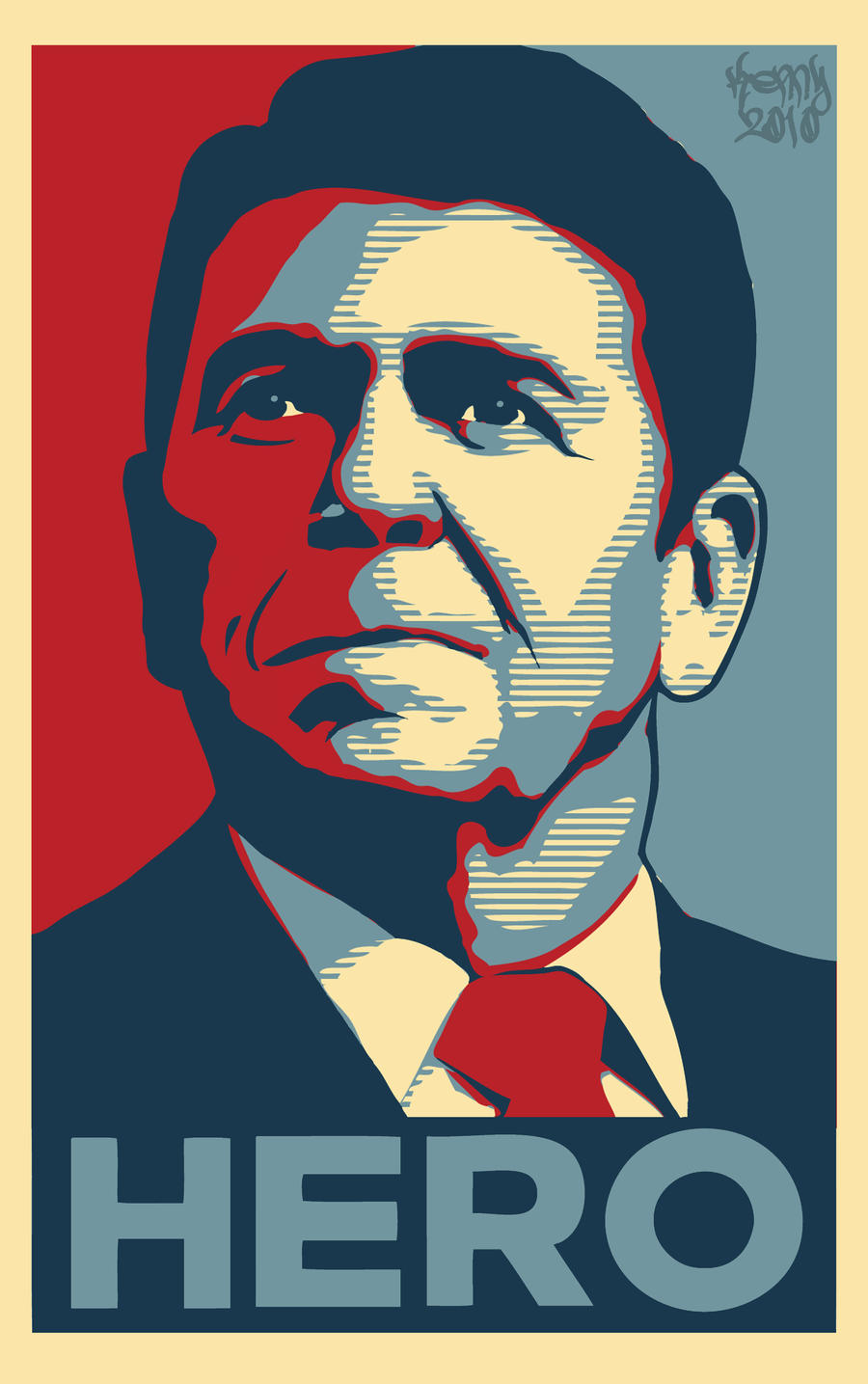 Hero Reagan print by m40a2