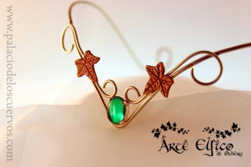 Elvish Art Owieru: Tiara Ivy green by Nexogure
