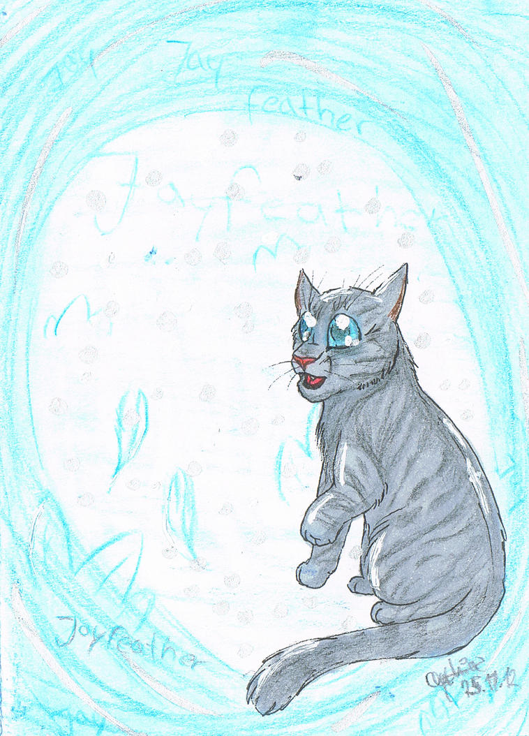 Jayfeather Sketchcard for Osayio by Kruemelforever