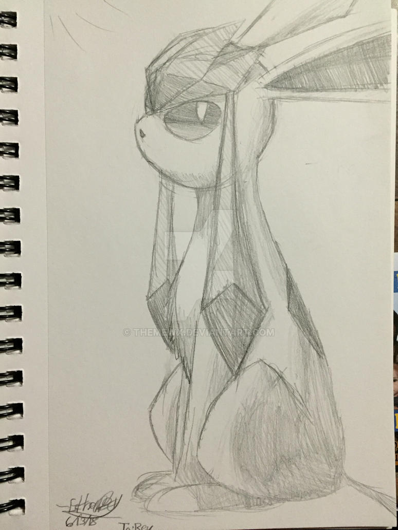 Glaceon Sketch by TheMewx