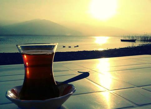 Tea by the side of Sapanca Lake