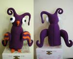 Purple and Orange Bird Plushie