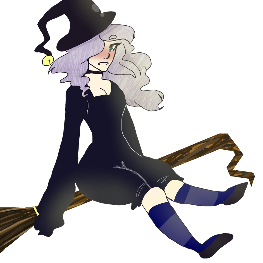 cute witch drawing for halloween by kimbosart on deviantart