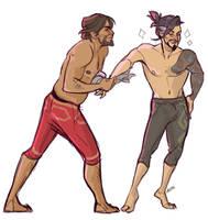 McHanzo doodle - dance by bylacey