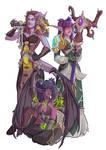 Commission - Druid, Shaman, and Demon Hunter