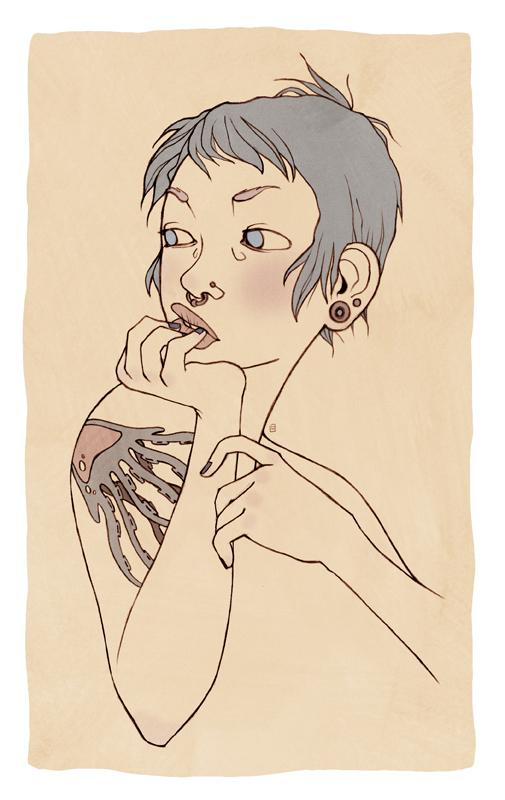 Short Hair For Girls - shoulder tattoo