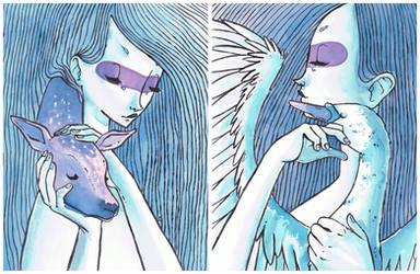 Fawn + Swan by boum