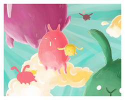 The Flight Of The Lagomorphs by boum