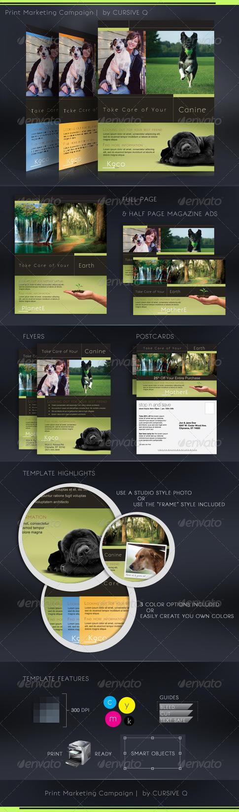 Print Marketing Templates PSD by CursiveQ-Designs