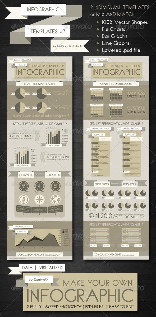 Infographic Templates .PSD v3 by CursiveQ-Designs