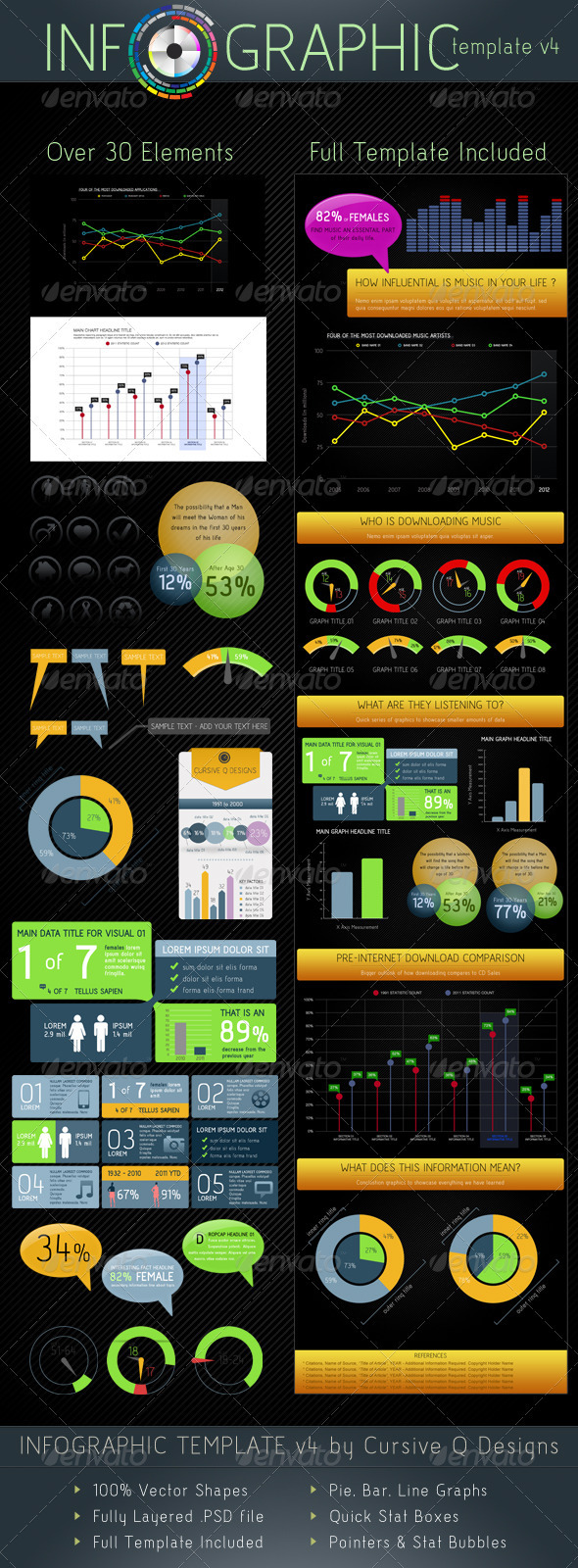 Infographic Template v4 by CursiveQ-Designs