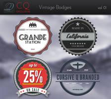 Free CQ Vintage / Retro Badges vol. 1 by CursiveQ-Designs