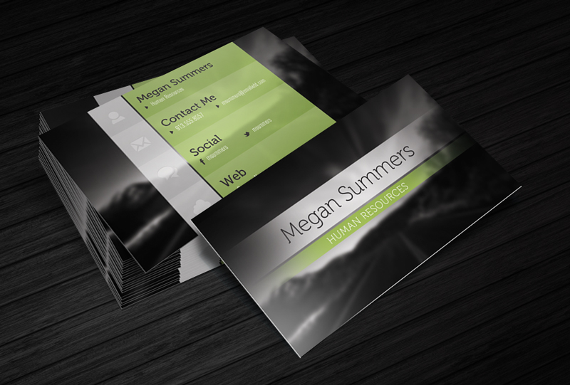 Free Business Card Template - Simple Scene