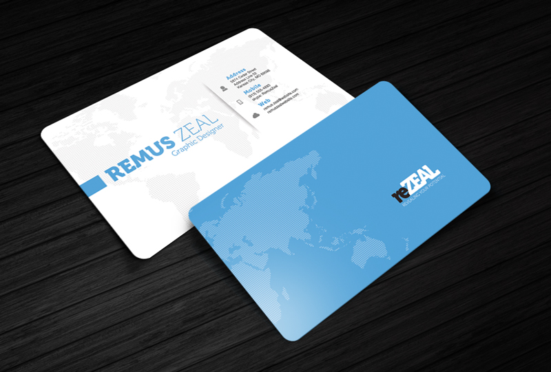 Free Business Card Template - reZEAL by CursiveQ-Designs