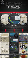 Infographic Elements and Templates 3Pack Vol1