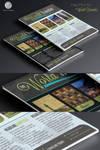 Free Print Ad Template PSD - World Traveler