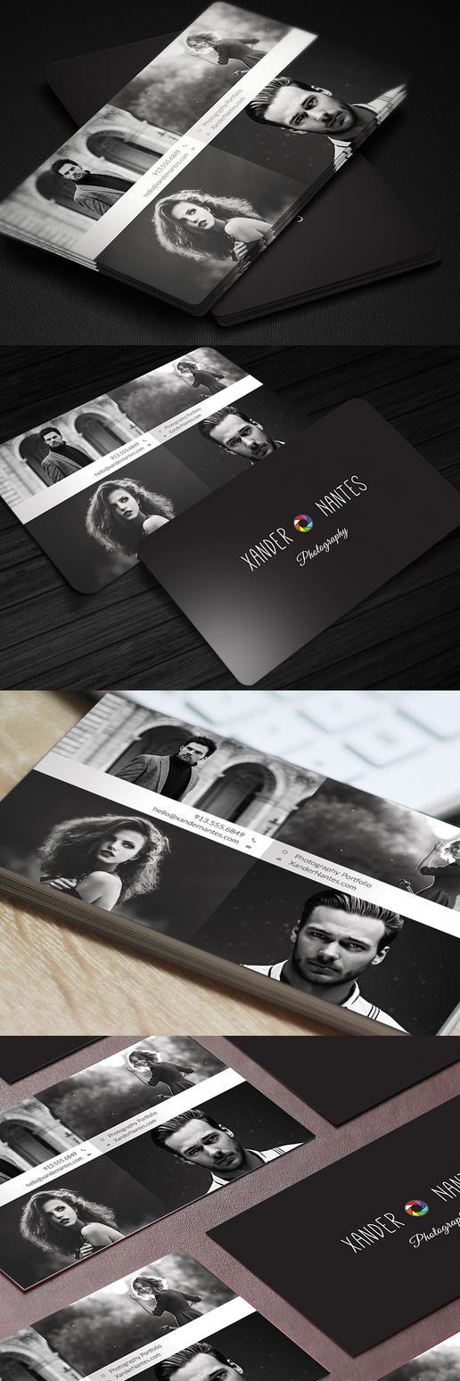 PhotographerBusinessCard v3 QuadPix preview long by CursiveQ-Designs