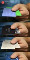 Free Business Card, Credit Card, Hand Mockup by CursiveQ-Designs