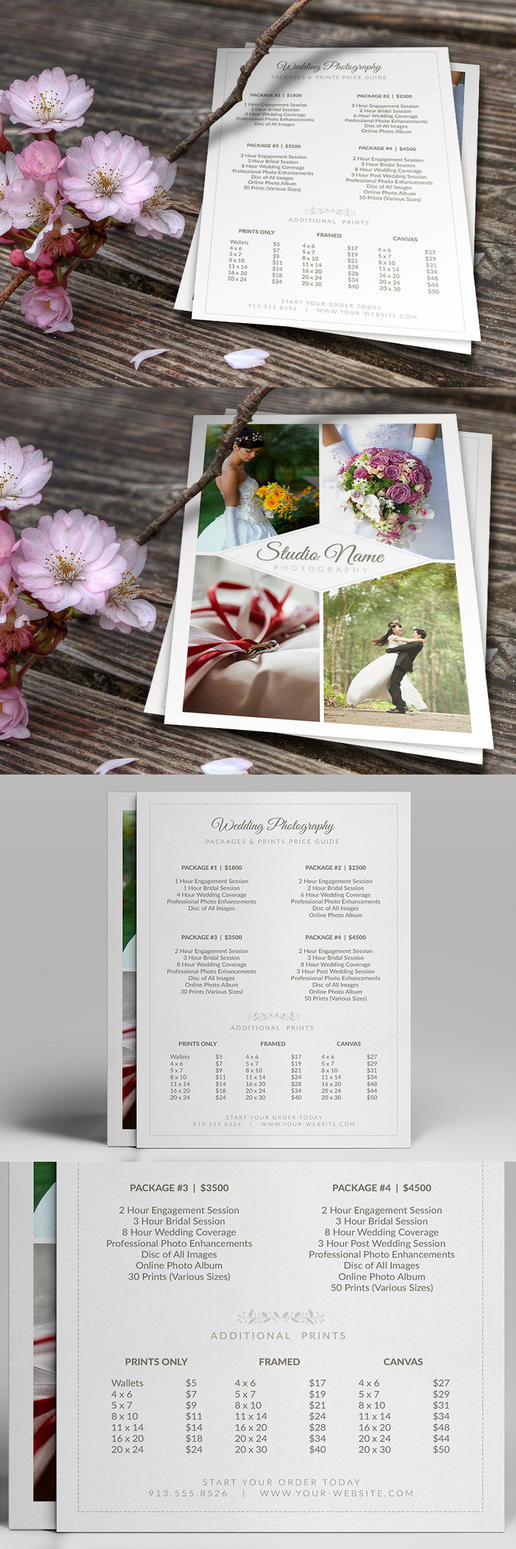 Wedding Photographer Pricing Guide PSD Template v2 by CursiveQ-Designs