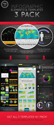 Infographic Elements and Templates 3 Pack Vol. 3 by CursiveQ-Designs