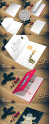 Greeting Card Mockup - Photoshop PSD Template by CursiveQ-Designs