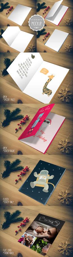 Greeting Card Mockup - Photoshop PSD Template