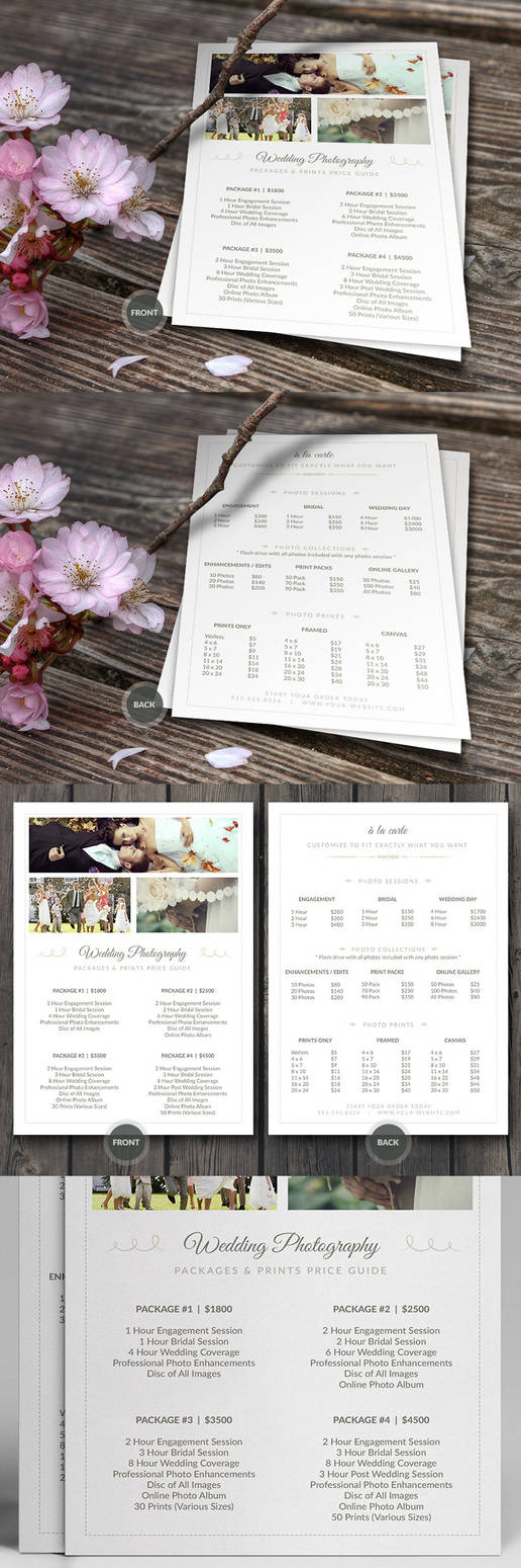 Wedding Photographer Pricing Guide PSD Template v3