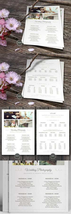 Wedding Photographer Pricing Guide PSD Template v3