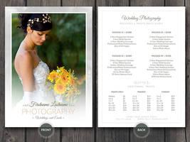 Wedding Photographer Price Guide Card PSD Template
