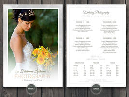 Wedding Photographer Price Guide Card PSD Template