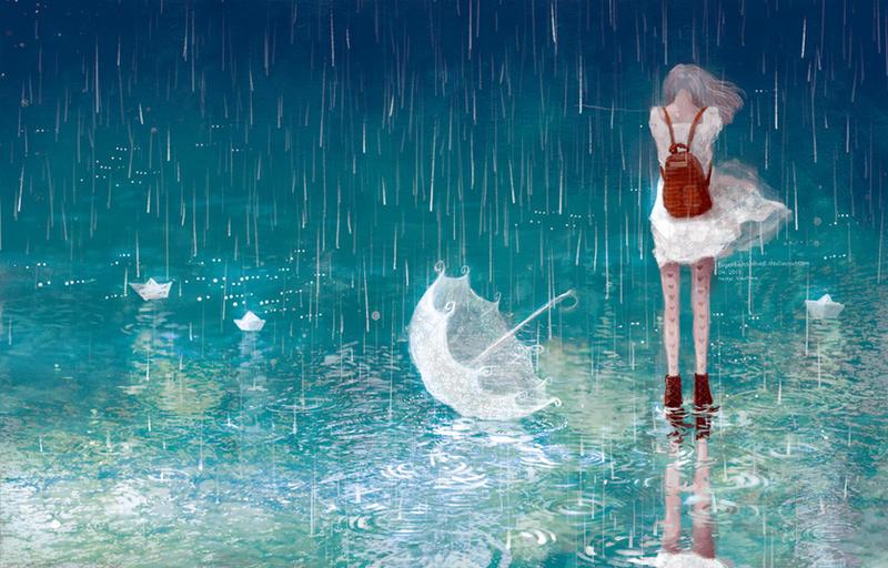 Rain By Tuyetdinhsinhvat On Deviantart