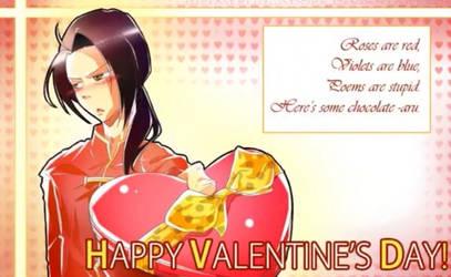 H-happy Valentine's Day, aru...